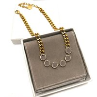 قلادة المرأة قلادة الأزياء قلادة المرأة القلائد قلادة حزب عشاق هدية مجوهرات مع هدية مربع