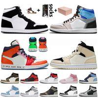 des chaussures nike air jordan retro 1 jumpman 1 travis scott 1 1s off white Chaussures de basket-ball pour hommes pour femmes High OG Bio Hack Fearless Chicago Baskets