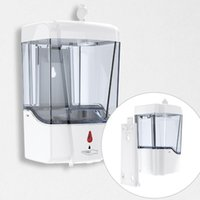 700ml 자동 비누 디스펜서 벽 마운트 자동 적외선 센서 대용량 액체 비누 디스펜서 손 세탁기 OOA8167