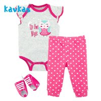 Clothing Sets On Big Discount Born Baby Girl Set Top Romper Pants Shoes Outfits Cotton Summer Plain Clothes Bodysuit Onesie