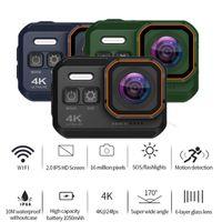 "Videocamere d'azione sportive Ultra HD 4K / 24pfs Camera 10M Waterproof WiFi 2.0 ""Schermo 1080P Sport GO Extreme Pro CAM Drive Recorder Tachog"