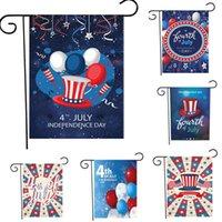 18 x 12.5 inç Bağımsızlık Günü Bahçe Banner Bayrak Yüksek Kalite 4 Temmuz Dekorasyon Malzemeleri Tatil Ev Dekor Asılı Afiş