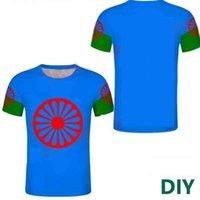 Gypsy Groupe ethnique T-shirt Sport Top Diy Gyssies Bohême T-shirts Personnaliser Romani Personnes Nom Numéros Photo Top H0911