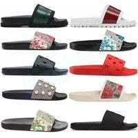 Diapositivas de diseñador para hombre Zapatillas para mujer Moda de lujo Pisos florales Sandalias Zapatos de playa de verano Mocasines Parte inferior del engranaje Deslizadores
