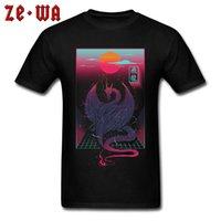 ccccsportclassic camisetas Mito Chinês Dragon Sunset Mens Street Tshirts Engraçado Design Fitness Fitness T Camisa Pura De Algodão Verão Cool Tee