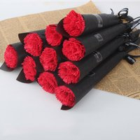 Single tige artificielle artificielle carnation parfumée savon brillant savon rose bouquet de fleur préservé Bouquet de la Saint-Valentin de la Saint-Jeu à la fête des mères 243 s2