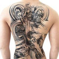 2021 Zhao Zilong Yunman Back Grand Sticker Tattoo Sticker imperméable Hommes et femmes Simulation durable