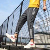 Men's Jeans Straight Legs Loose Tide Brand Spring And Autumn Style Nine Pants Casual Long Korean Trend
