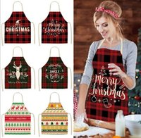Linen Merry Christmas Apron Christmas Decorations for Home Kitchen Accessories New Year Christmas Gifts SEAWAY HHF9999