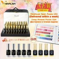 120 stücke * 12 ml venalisa lack lack farbe palette für salon glänzende glitter sternenklare hochwertige uv led gel nagellack
