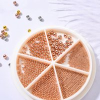 Nail Art Decorations 3D Decoration Rhinestone Gold Silver Mixed Colorful Beads Crystal DIY Studs H9W6