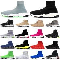 جورب الأحذية كتابات الرجال النساء عارضة أحذية رياضية الثلاثي الأسود البيج بريق الأزياء واضح وحيد رجل المدربين الرياضة الأحذية منصة 36-45