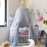 7 colori appeso Biancheria da letto Cupola Bed Bed Cotton Zanzariera Bedcover Tenda per bambini Bambini Lettura Giocare a Home Decor