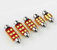 20 unids 12V 24V Festoon LED LIGHT 3030 6SMD 28mm 31mm 36mm 39mm 41mm Coche Panel de techo Lectura Láminas Lampada Lampada