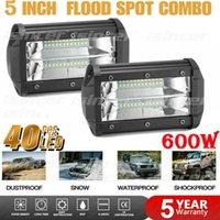 Car Headlights 600W LED Work Light Bar Flood Spot Lights Driving Lamp Offroad Truck SUV 12V 24V Strip Turn Signal Auto