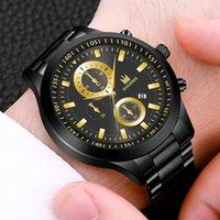 Wristwatches Men's Watch 30m Waterproof Date Clock Male Sports Watches Men Quartz Casual Wrist (Small Dial No Work B3676