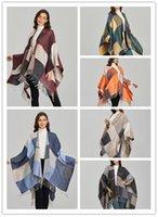 Designer women scarf shawl fashion cashmere Scarves jacquard split thick warm luxury accessories rs071902