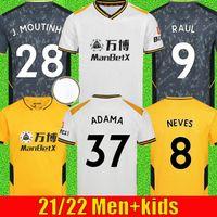 20 21 RAUL Wolves Fußballtrikots NETO 2020 2021 Wolverhampton Wanderers PODENCE DIOGO NEVES Fußballtrikot ADAMA Herren Jersey Kinder Kit
