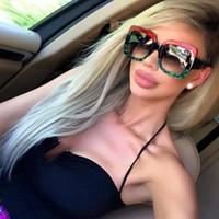 Femmes de luxe de haute qualité rétro grand cadre de marque de marque Vintage lunettes de soleil lunettes de soleil pour femmes lunettes de soleil UV à la mode avec boîte-cadeau