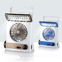 Linterna de linterna de linterna de campamento de ventilador solar Lámpara de lectura multifuncional recargable de iluminación de iluminación multifuncional