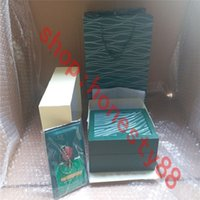 Luxury designer Top Quality boxes Dark Green Watch Box Gift Woody Case For Rolex Watches Booklet Card Tags and Papers In English Swiss WatchesBoxes 0039