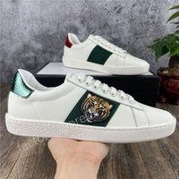 2021 Männer Frauen Sneaker Casual Schuhe Niedrig Top Italien Ass Bienenstreifen Schuh Flache Leder Schlange Tiger Walking Sport Trainer Chaussures Pour Hommes