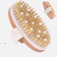 PPR soft bead bristles shower brush Dry skin body brush with natural boar bristles can remove dead skin body brush unisex OWE9638