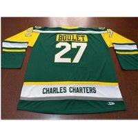 Goodjob Мужчины молодежи женщины винтажные Charles Charters # 27 Logan Boulet Humboldt Broncos Hockey Jersey Size S-5XL или пользовательское имя или номер