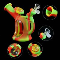 glass water pipe silicone hookah wax oil rigs for smoking glass water bubbler nector smoking collector