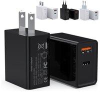 Быстрое быстрое зарядное устройство 18 Вт PD Type C Настенные зарядные устройства EU AS AC AC Адаптер питания для iPhone 7 8 11 12 Samsung S20 S21 HTC Android телефона PC