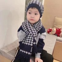 Kids Beanie Scarves Baby Knit Hat Scarf Sets Winter Solid Hats Ski Skull Caps Scarf Kit Xmas Party Hat Outdoor Warm Caps Gifts