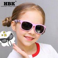 نظارات شمسية HBK Balarized Kid's Silicone المواد الإطار الأزياء ملون ظلال آمنة نظارات للأطفال حماية من الأشعة فوق البنفسجية مرنة