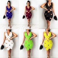 Femme Summer Hollow Out Robe Slim Sexy Combinaison tissée Jupe Jupe Filles Fashion Fashion Sans manches Robe Bolycée Plage Casual Party Vêtements H32BKKS2