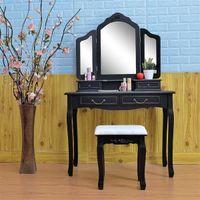 Mobili da camera da letto Creative Nordic Dresser di lusso di lusso di lusso di lusso con sgabello nero Single Dressing Girl Trucco tavolo