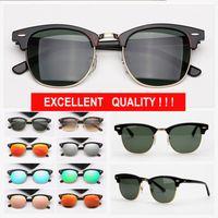 رجل أزياء المرأة النظارات الشمسية العصرية القيادة نظارات الشمس نصف الإطار des lunettes de soleil مع حالة جلدية مجانية للسيدات eyeware