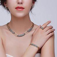 Earrings & Necklace Women Fashion Dubai Jewelry Sets Luxury Bridal Nigerian Wedding African Beads Set Costume Design Bracelet For