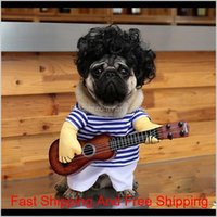 New Hot Sale Pet Dog Guitarist Apparel Funny Guitar Costume Pet Dog Cat Funny Play Guitar Clothes 9C6Sp Y4Bnk
