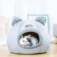 Cat Beds & Furniture House Indoor Deep Sleep Litter Comfort Winter Puppy Tent Com For Table Cushion Small Pet Bed