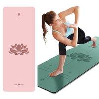 Yoga Mats 183 * 68 PU 5 мм Коврик спортивные фитнес-тренажеры на дому Нескользящий тренажерный зал одеяло медитации пилатес 5 цветов