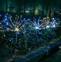 크리스마스 태양 잔디 불꽃 놀이 빛 민들레 문자열 조명 야외 방수 Christma 장식 램프 DHD8302