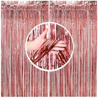 Party Decoration Rose Golden Background Curtain Backdrop Wedding Decor Baby Shower Sequin Wall Glitter Foil Birthday