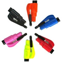 Keychains Portable Car Safety Hammer Spring Type Escape Window Breaker Punch Seat Belt Cutter Key Chain Auto Accessories