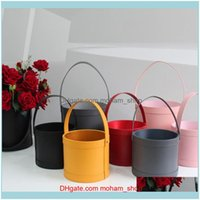 Wrap Event Festive Party Supplies Home & Gardenhandheld Flowers Bouquet Mini Paper Packing Box Case With Lid Hug Bucket Florist Gift Storage
