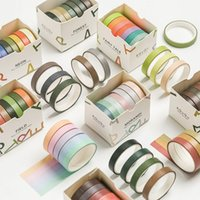 3Pieces Lot 7pcs Set Washi Tape Rainbow Color Masking Tape Decorative Tape For Sticker Scrapbooking DIY Photo Album