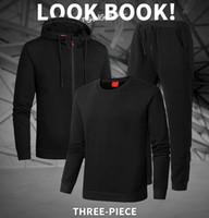TrackSuit Hommes Sweats à capuche Hommes Sportswear Mens TROIS PIÈCES SET Cadre Zipper Sweat à capuche + Pantalon SweatSuit Homme Sport Casual Sport Top Jogging Cuissons