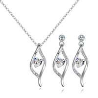 Earrings & Necklace Ms Betti 2021 Wedding Jewelry Set Oval Heart Crystal Pendant For Fashion Women Girls Birthday Gifts
