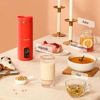 220V Máquina de leche de soja 350 ml Mini Juicer Blender Cocina Multi Calefacción Soya-Bean Leche Stir Rice Paste Maker Filter-Free