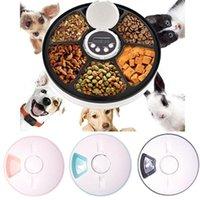 Hundeschüsseln Feeder PET Automatische Zufuhrabschnitt Steuerung Digital Timer Abnehmbare Hunde Katzen Anti Slip 6 Mahlzeit Tabletts mit Voice Recorder trocken w
