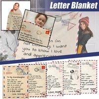 Flannel Convelope Booket Письмо 3D Печатные Конверты Любовь Теплые Стелаты Мать Отец к дочери Сын Жена Обепляет Семейные одеяла BWD11119