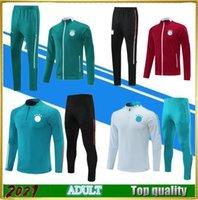 2021 homens de treinamento de futebol conjunto de futebol tracksuits 20/21 / 22 camisa polo jaqueta manga curta